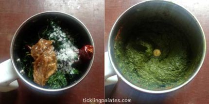 manathakkali keerai thogayal recipe step2