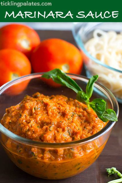 chunky marinara sauce recipe