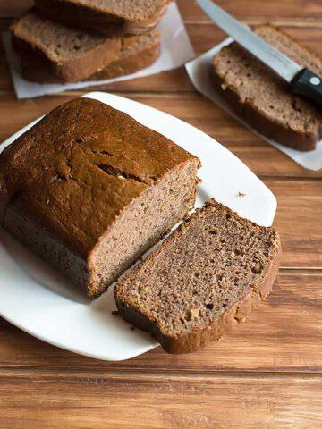 eggless blender banana bread recipe
