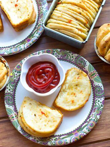 eggless butterflake herb loaf recipe