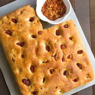 sun dried tomato focaccia bread recipe