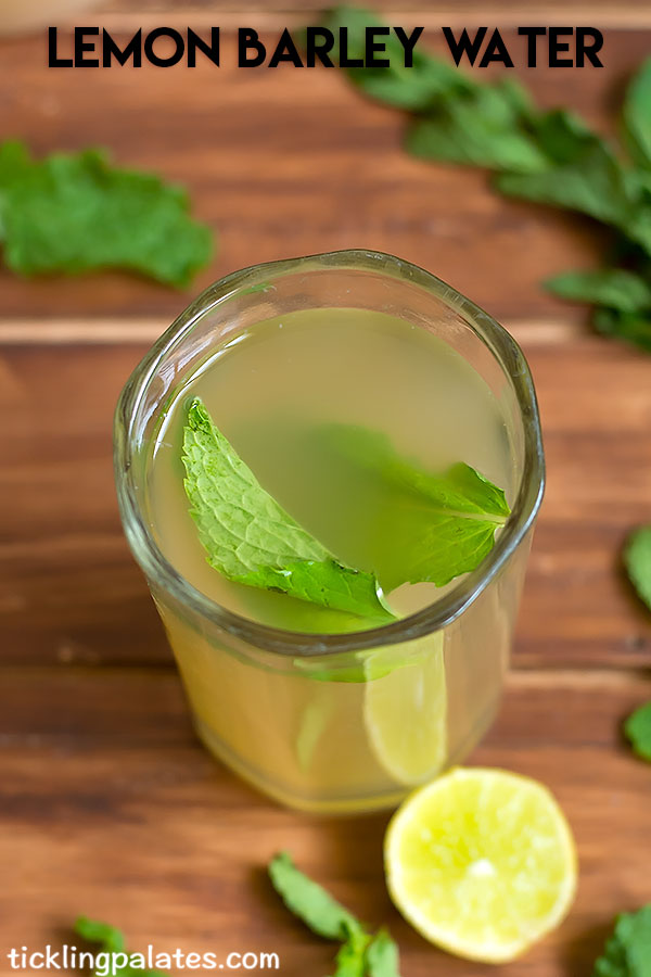 barley lemon water