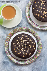 Eggless Ragi Chocolate Cake Recipe With Video