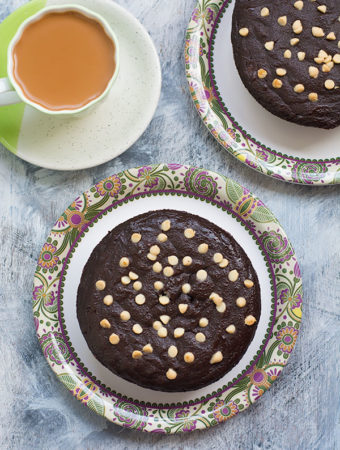 Eggless Ragi Chocolate Cake Recipe With Video