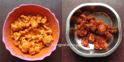 gobi fried rice step1