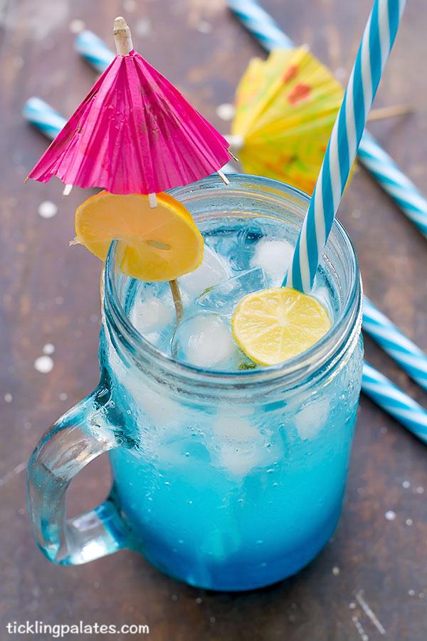 non alcoholic blue lagoon