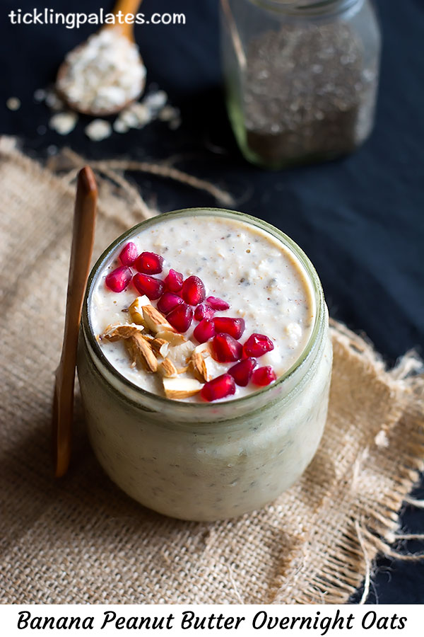 banana peanut butter overnight oats recipe