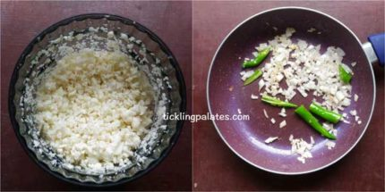 cauliflower fried rice recipe step1