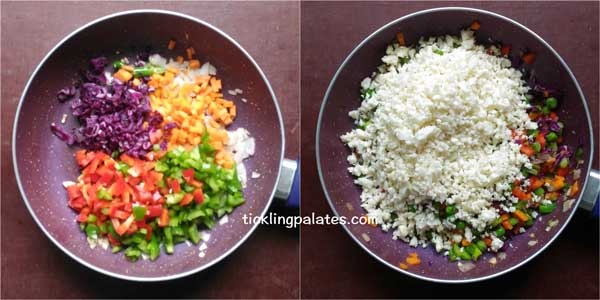 cauliflower fried rice recipe step2