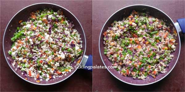 cauliflower fried rice recipe step3