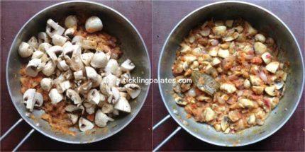 chettinad mushroom Masala recipe step5