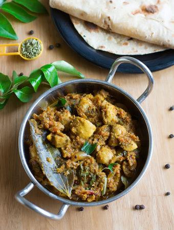 Chettinad Mushroom Masala Recipe – Chettinad Mushroom Gravy