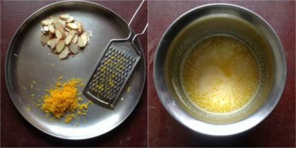 eggless orange cake step1