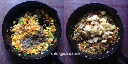 pineapple fried rice recipe step2