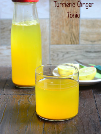 Turmeric Ginger Tonic or Shots Recipe