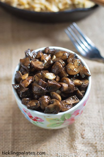 balsamic and soy mushrooms