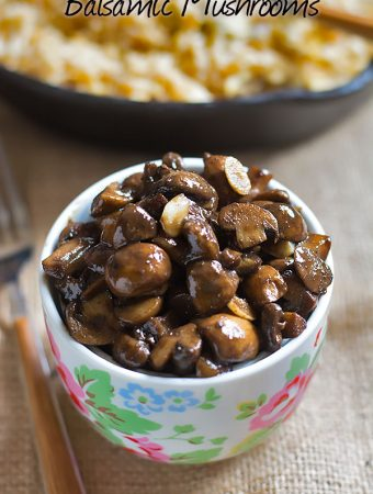 Balsamic Mushrooms Recipe – How to make Balsamic Mushrooms