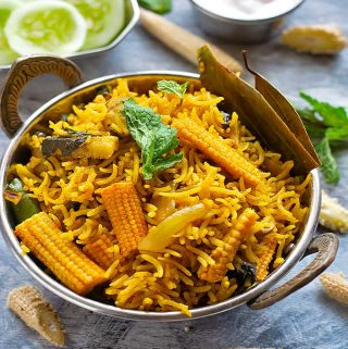 babycorn pulao recipe