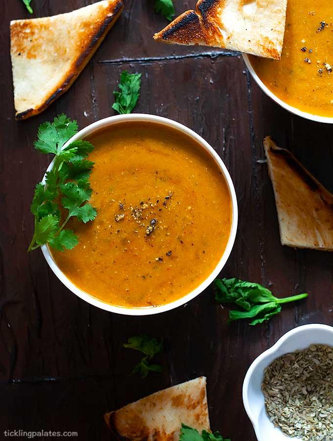 creamy vegan tomato celery soup recipe