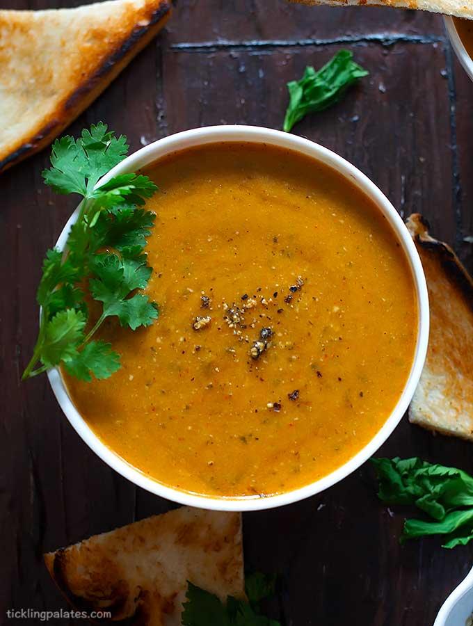 vegan tomato celery soup