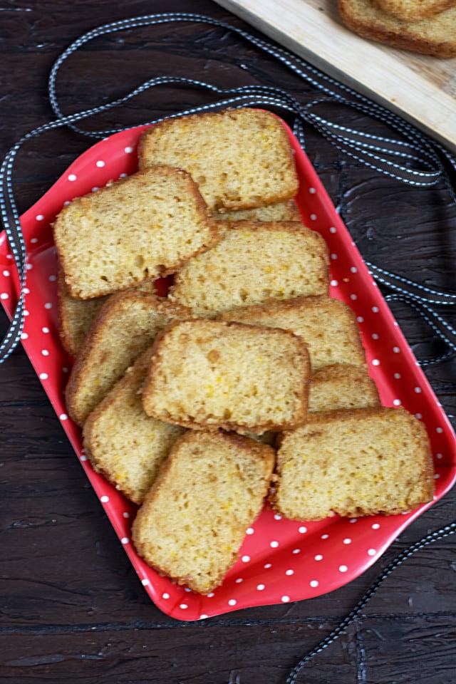 Eggless Orange Sponge Cake Recipe
