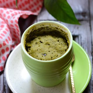 eggless matcha mug cake recipe