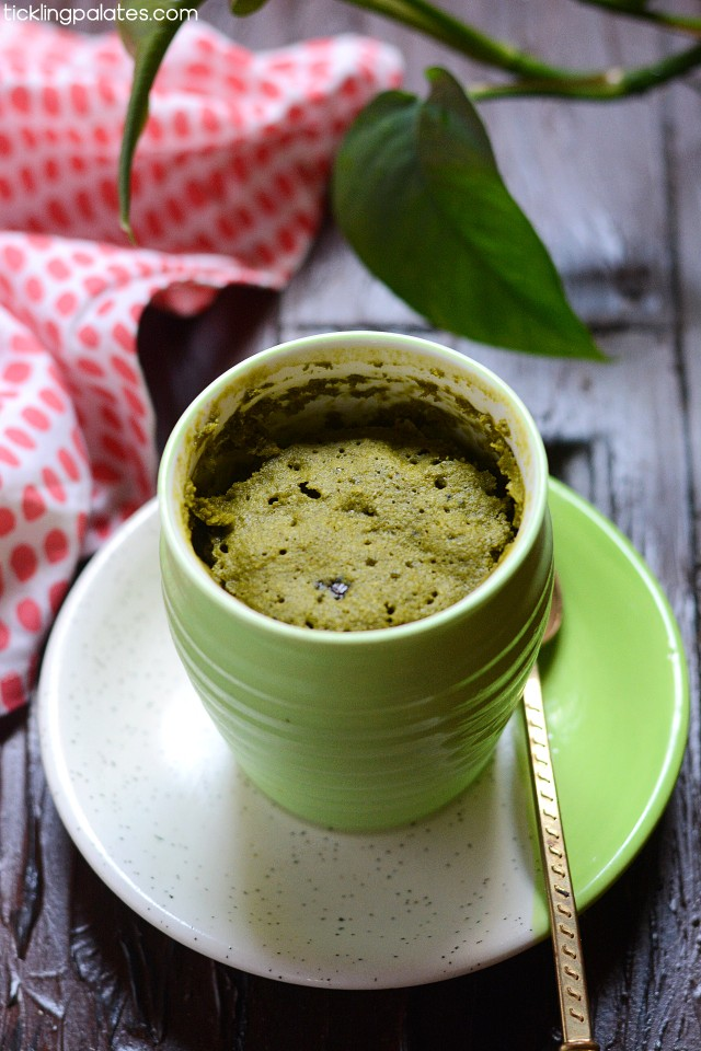 eggless matcha mug cake recipe