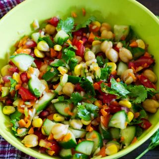 chopped chickpeas salad