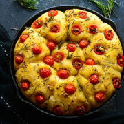 Sourdough Focaccia with Cherry Tomatoes & Rosemary