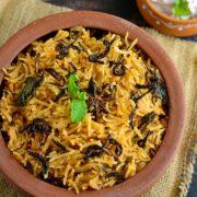 Kuska Biryani | Kuska Rice using Dum Method