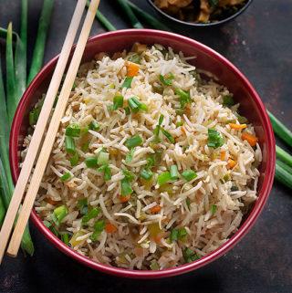 fried rice using veggies