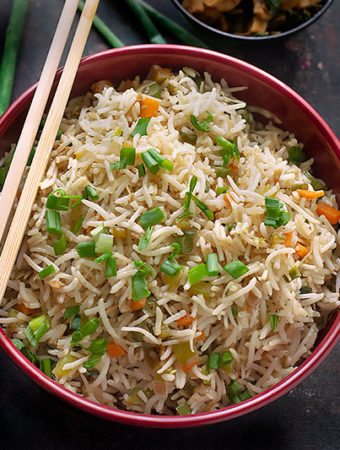 fried rice using veggies