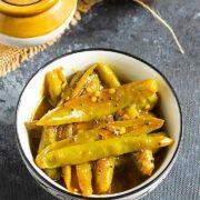 Puli Milagai - Green Chilli Pickle + Video