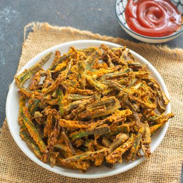 Air Fryer Okra-kurkuri-bhindi