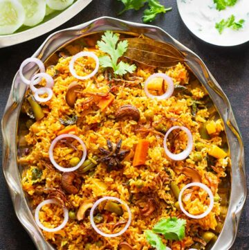 vegetable dum biryani