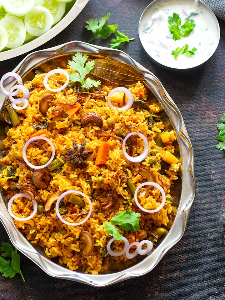 Veg Dum Biryani Dum Vegetable Biryani Video Tickling Palates