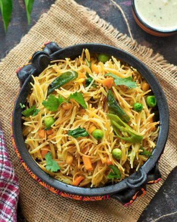 vermicelli upma with vegetables