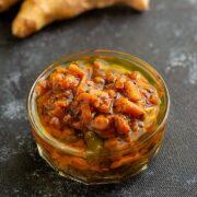 Puli Inji - Instant Ginger Pickle + Video