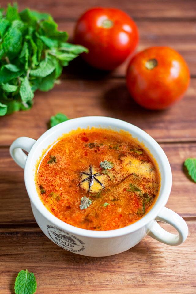 chettinad tomato soup recipe