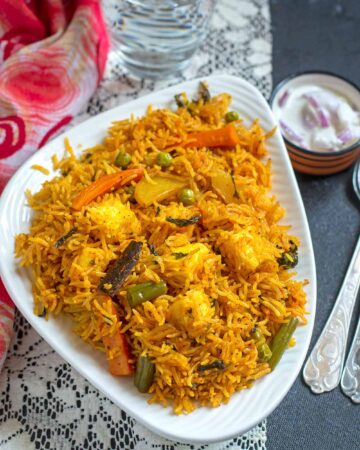 Instant pot Vegetable Biryani Recipe