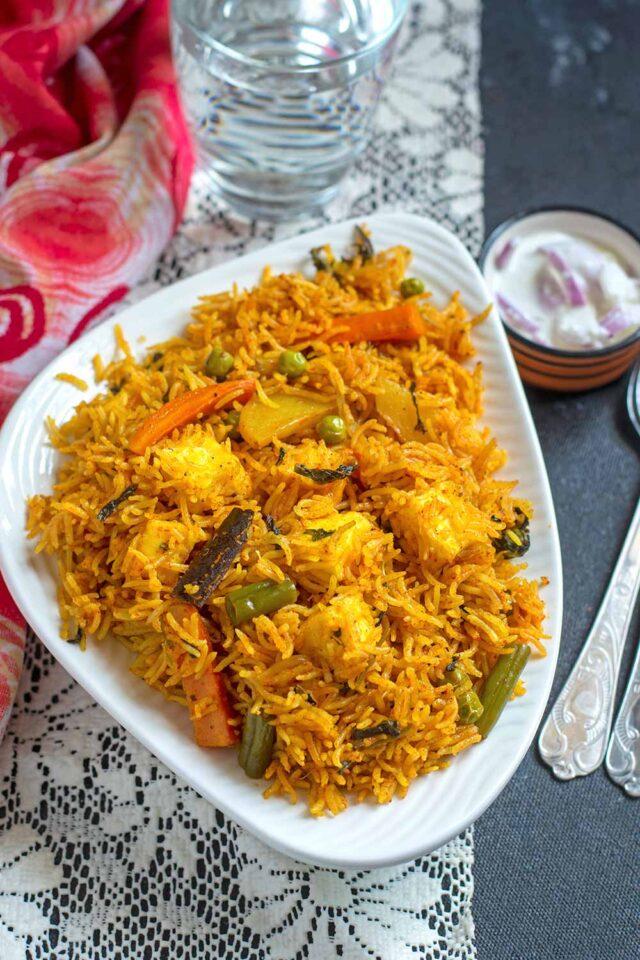 Instant pot Vegetable Biryani Recipe
