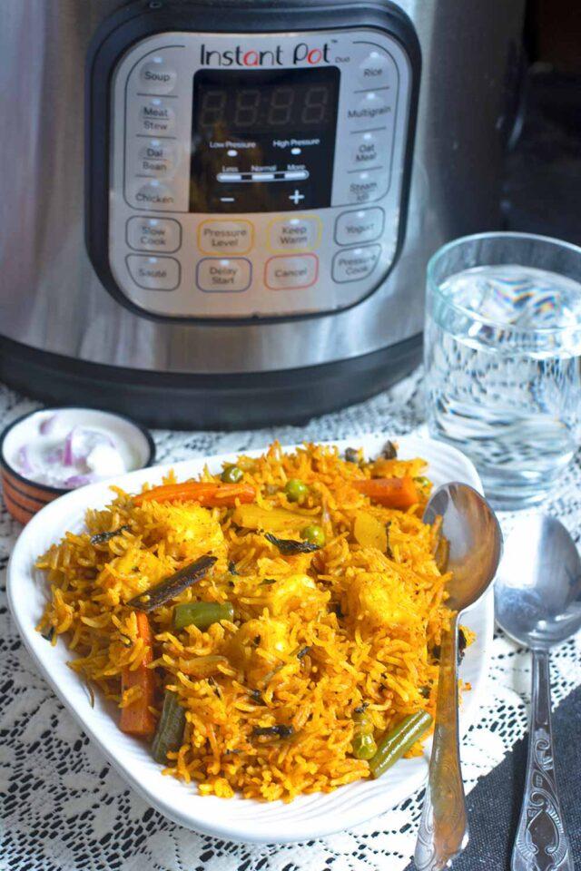 how to make veg biryani in instant pot