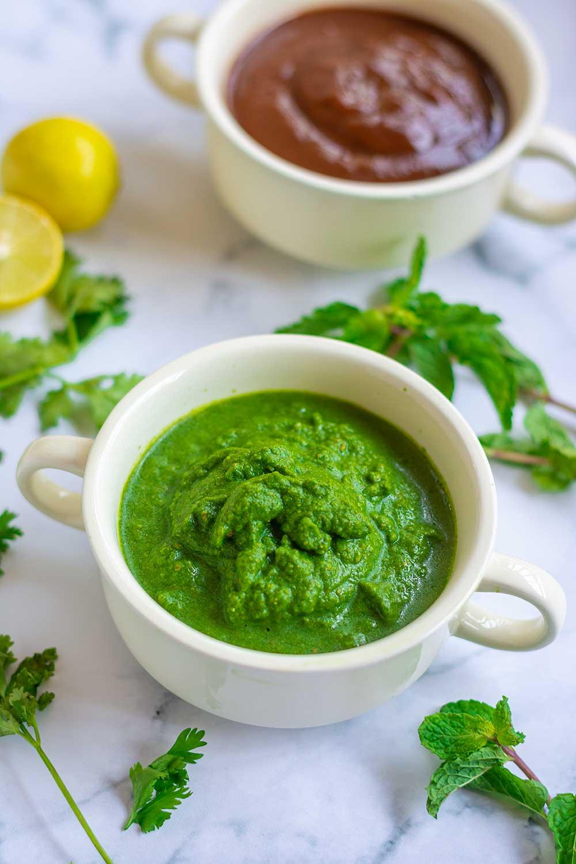 Green chutney recipe for chaats