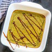Eggless Baked Oats Recipe - Matcha Baked Oats