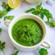 Green Chutney Recipe for Chaat - Hari Chutney