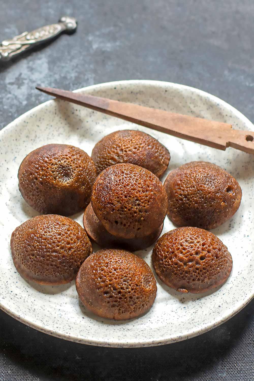 instant ragi sweet appam recipe