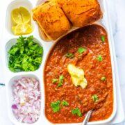 Pav Bhaji Recipe (Instant Pot & Stove Top)